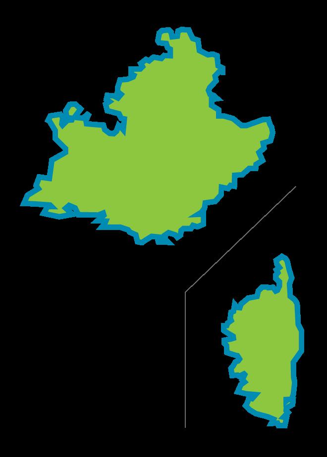 Carte PACA et Corse