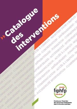 Catalogue des interventions du FIPHFP