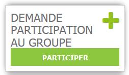 Copie d'écran de l'Espace collaboratif de demande de participation au groupe de travail