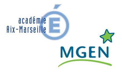 Logos Académie Aix-Marseille et MGEN