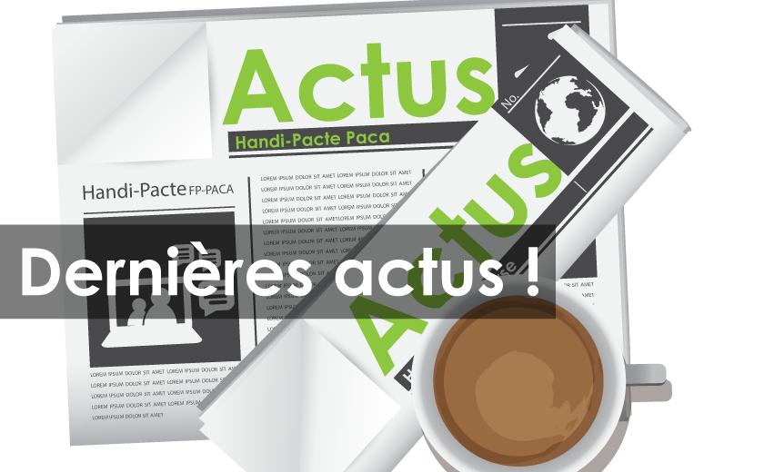 Journal indiquant actus en PACA et tasse de café