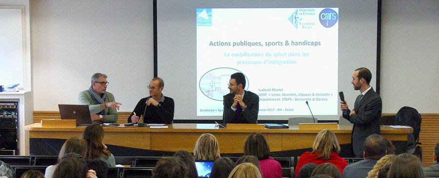 « Sports et Handicaps » : séminaire à l