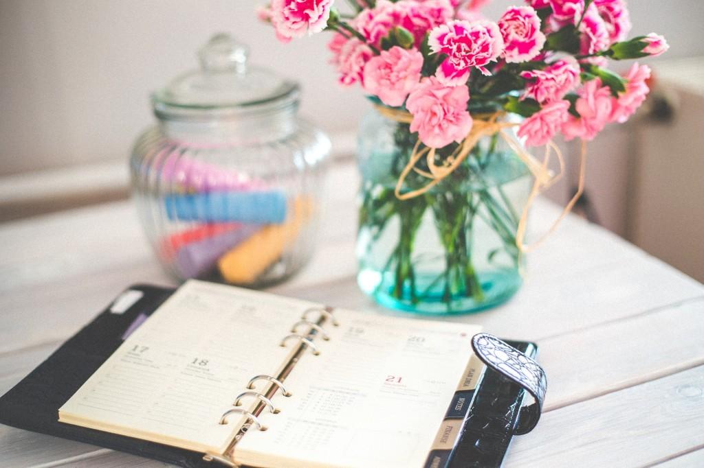 calendrier avec fleurs