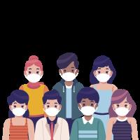 personnes portant des masques